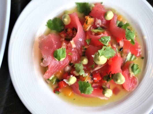 Tuna crudo dish, NJ Chef Profile Series, Meg LaManna, B2 Bistro + Bar, Point Pleasant Beach, Jersey Bites