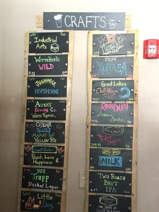 Craft Beer List at B2 Bistro & Bar Red Bank, Breweries, Brew Pubs, and Bars, Red Bank, Jersey Bites, Peter Culos, Beer Guy
