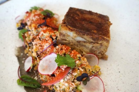 Charred Corn Salad and Slow Cooked Pig
