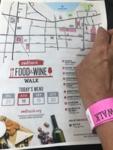 Map for Red Bank Food & Wine Walk, Red Bank Food and Wine Walk, Red Bank, Jersey Bites, Monmouth County