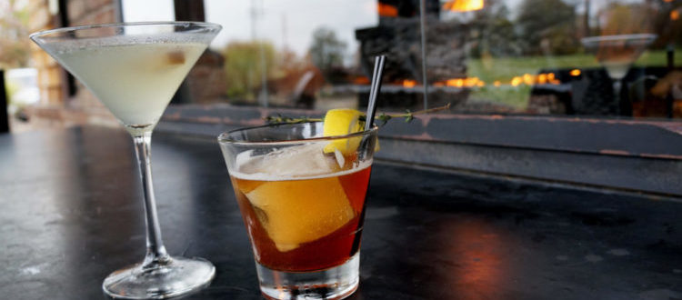 Fall cocktails by the fire
