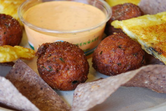 Caribbean Crab Fritters at Fins in Bradley Beach