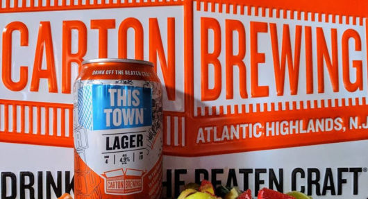 Carton Brewing This Town lager
