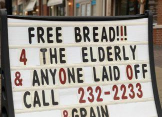 Free Bread sign &grain