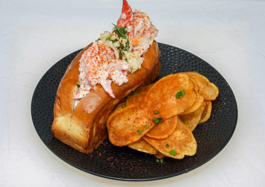 Lobster Roll & Chips from Shell n Tail