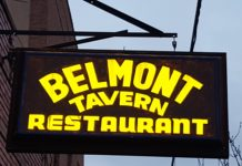 Belmont Tavern sign