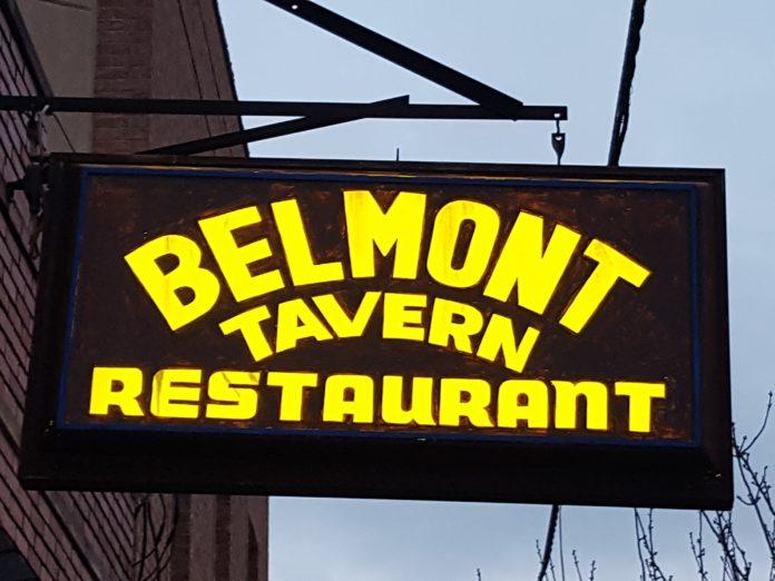 Belmont Tavern sign