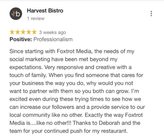 Restaurant Marketing review for Foxtrot Media LLC