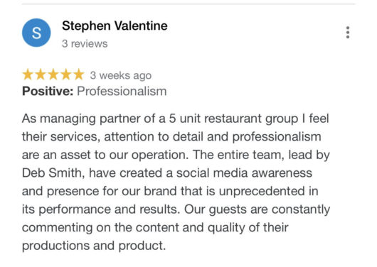 Restaurant Marketing Feedback for Foxtrot Media LLC