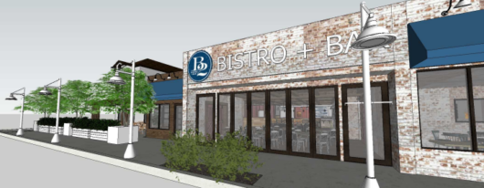 exterior rendering of B2 Bistro + Bar Toms River