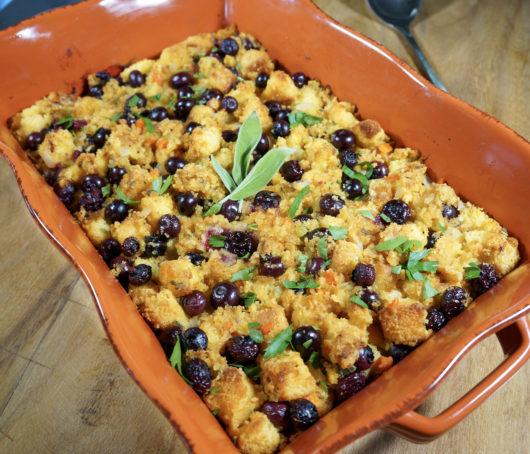 blueberry cornbread stuffing