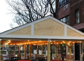 Rahway outdoor dining area