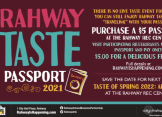 Rahway Offers 'Passports' to Taste of Spring 2021