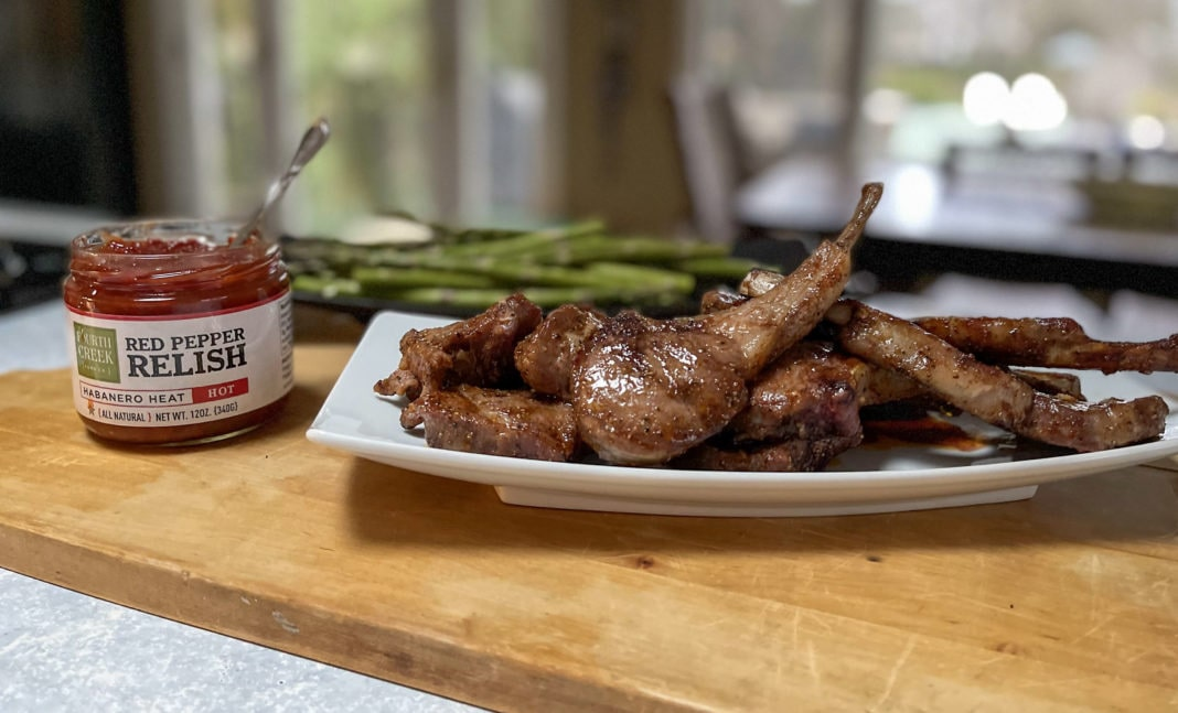 Lambchops with Fourth Creek Red Pepper Relish