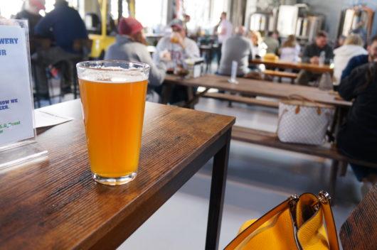 Pint of IPA at Glenbrook Brewery