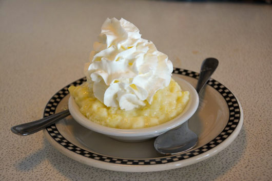 Tapioca Pudding with whipped cream