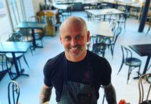 Chef James Avery inside The Bonney Read restaurant