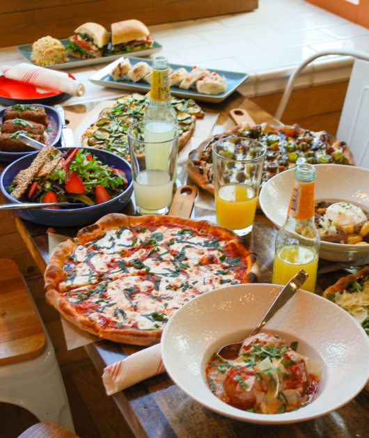 pizza and other menu items