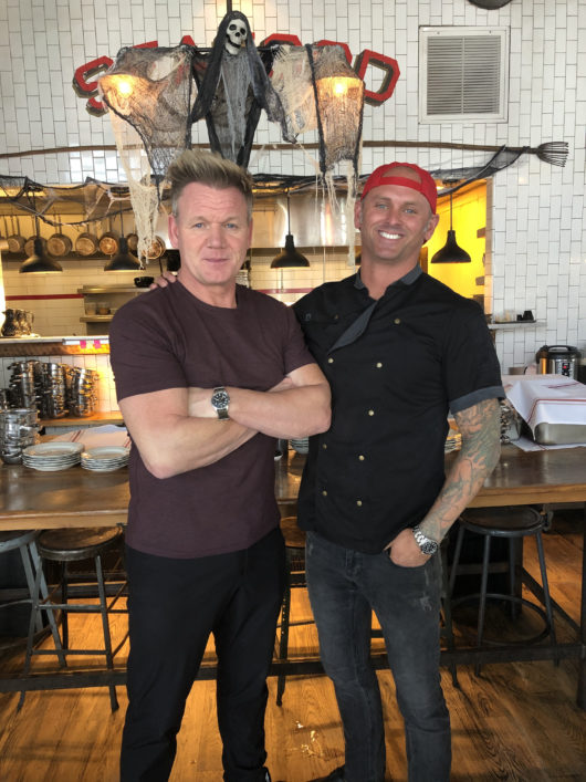 Chef James Avery with Gordon Ramsey