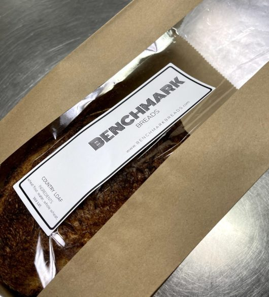 Benchmark Bread in bag with logo