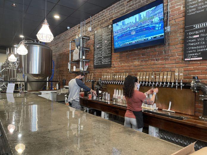 Battle River Brewing tasting room