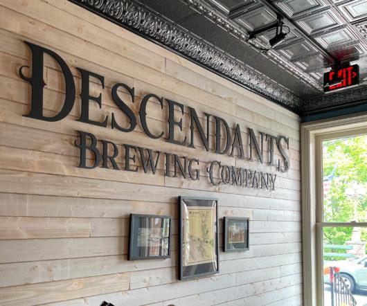 Descendants brewing sign