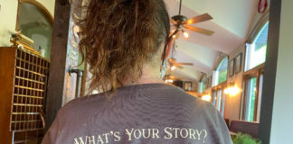 what's your story t-shirt from Descendants Brewing
