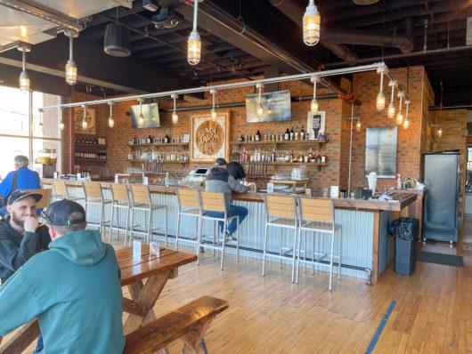 Beach Haus brewery interior