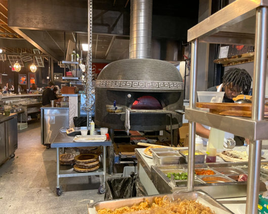 wood fired pizza oven at Belmar Kitchen