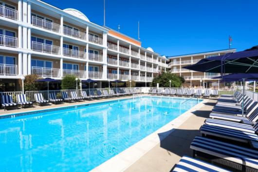 outdoor pool at La Mer Beach Resorts