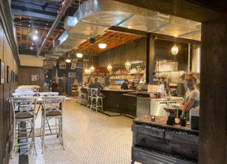 Belmar Kitchen bar area