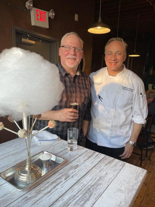 Jersey Bites' Peter Culos with Belmar Kitchen Chef Steven Johnson