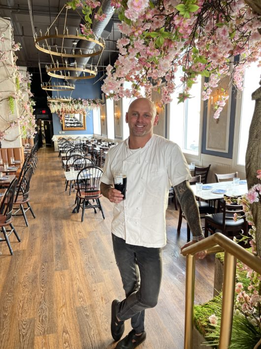 Chef James Avery inside The Black Swan