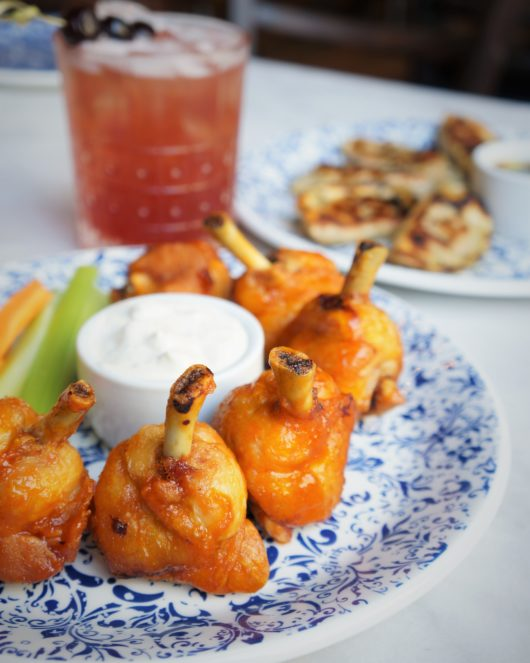 Chicken Wings and cocktail