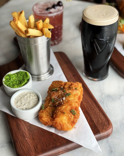 fish and chips at The Black Swan