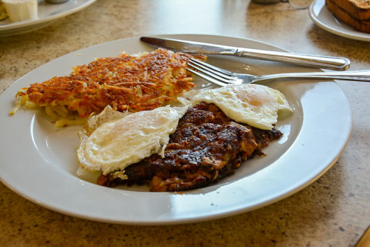 Eggs Over Easy with Corned Beef Hash