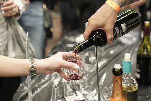 wine pour at JC Wine Fest