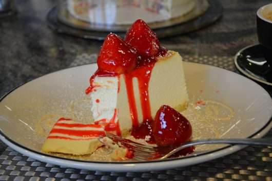 Tops Diner strawberry cheesecake