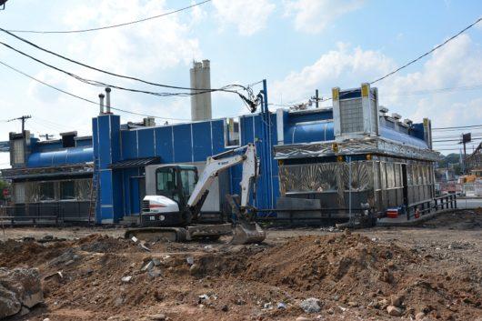 Tops Diner under construction