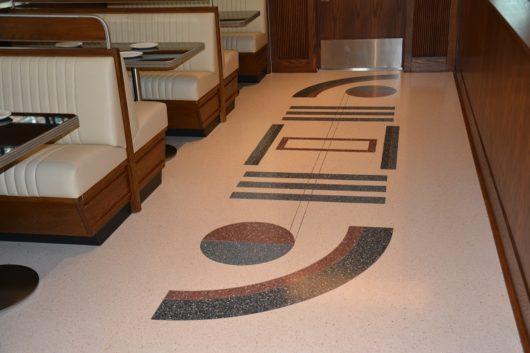 The artistic terrazzo floor