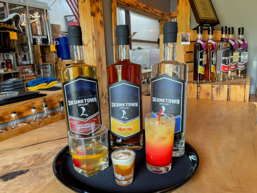 cocktails at Skunktown Distillery